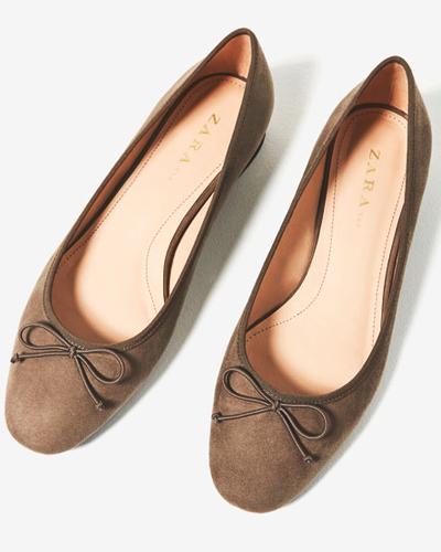 Балетки на каблуке, Zara