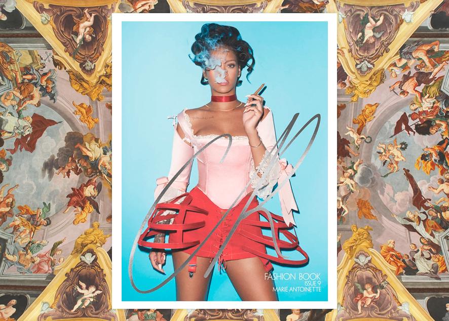 Новая обложка модного журнала  CR представит Рианну в образе французской королевы и плохой девочки.