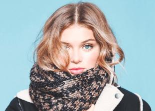 Несколько простых схем для шарфов любого размера и текстуры.