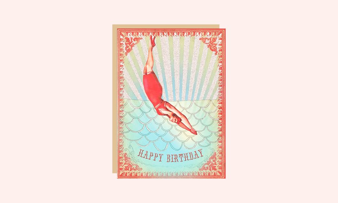 Поздравительная открытка коллеге