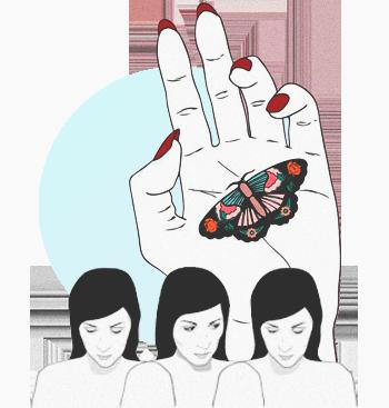 Иллюстрация на тему домашнего насилия
