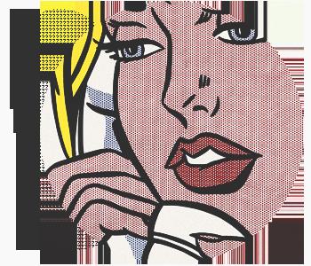 Рой Лихтенштейн картины на тему газлайтинга