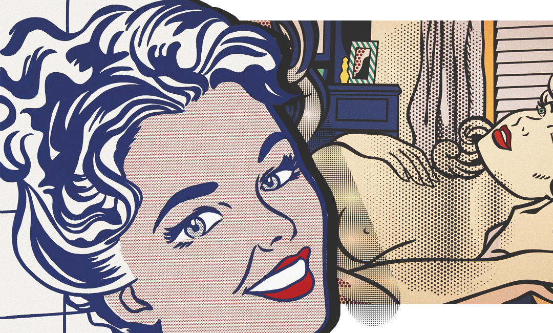 Lichtenstein - mujer en el baño