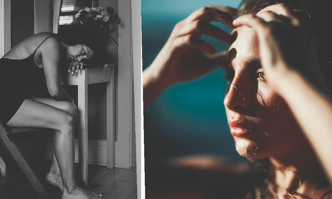 Фото женщины, страдающей мигренью