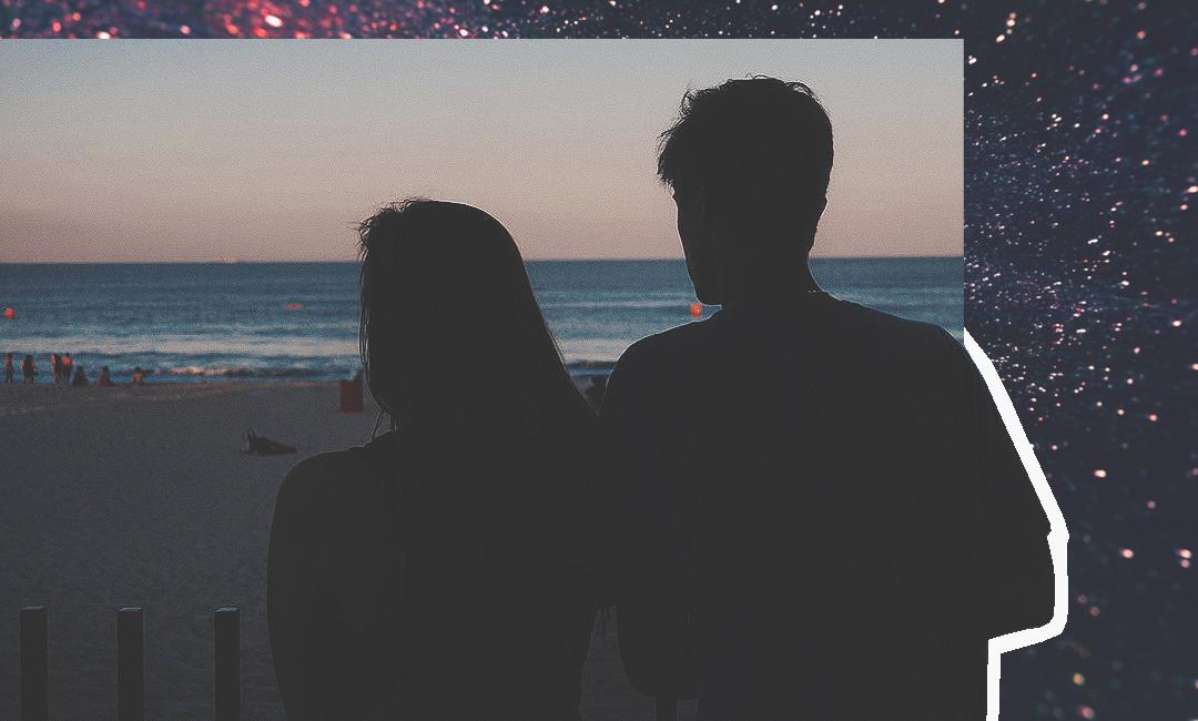 романтический вечер на берегу моря
