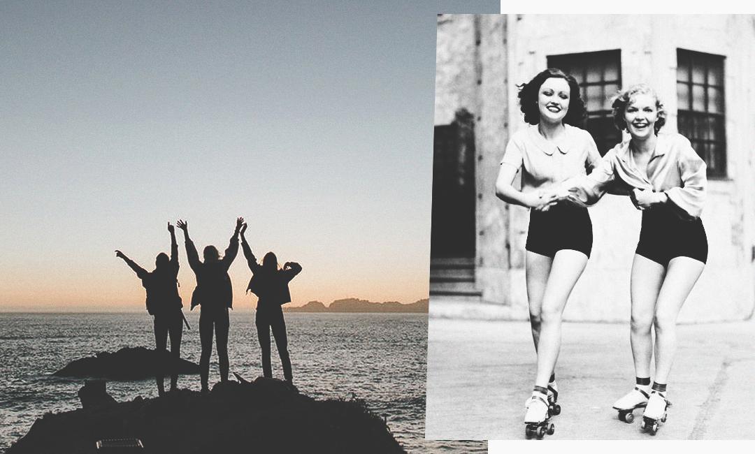 """Говори """"да"""" чаще и уедешь на море или научишься кататься на роликах, как девчонки из этой ретро-фотосессии на роликах"""