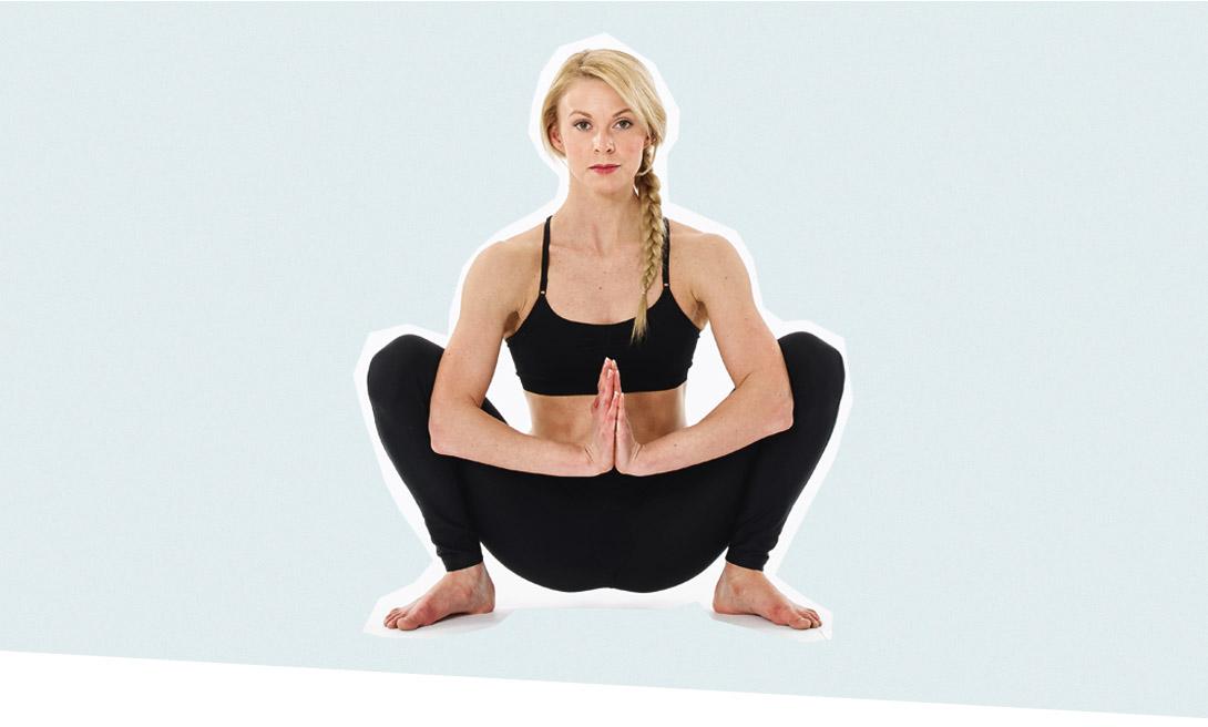 йога присяд