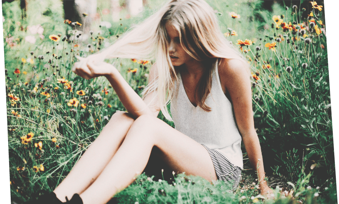 Красивые волосы у красивой девушки