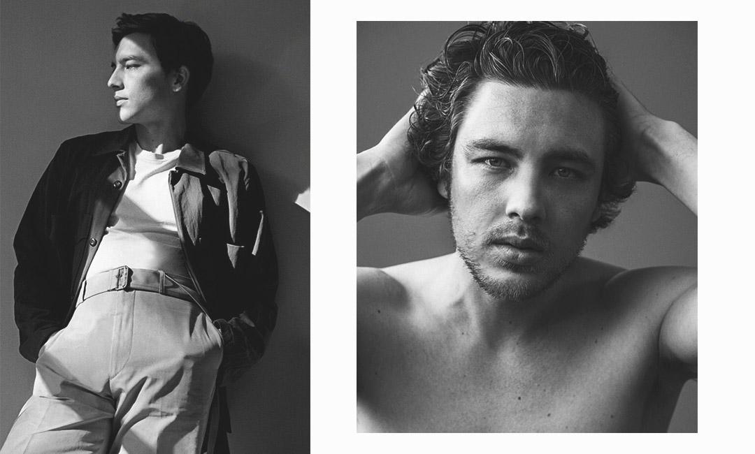 Фотография Коди Ферна с черно-белой фотосессии