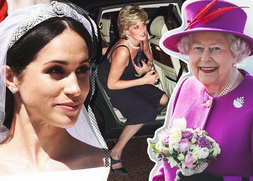 Почему Елизавета II одевается так ярко, кому нельзя носить диадему и как можно использовать клатч или сумочку.