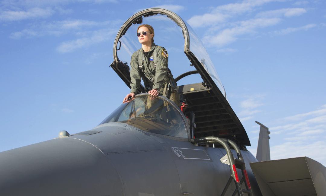 Бри Ларсон в роли Капитана ВВС Марвел