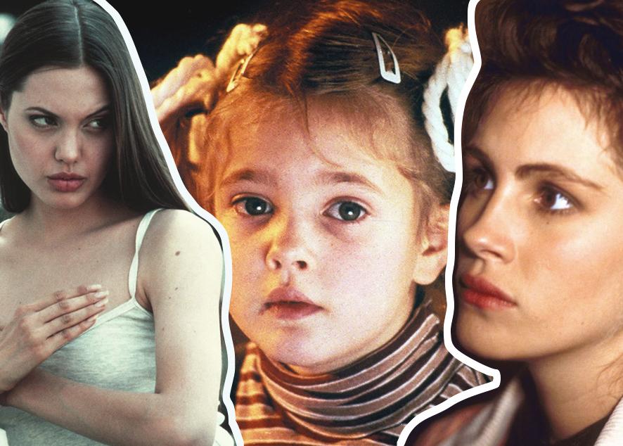 Фильмы с юной Джоли, малышкой Дрю Берримор и другими теперь уже легендарными актрисами.