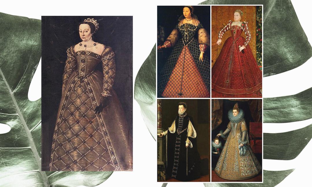 Екатерина Медичи первой кто ввела моду на женские корсеты во Франции