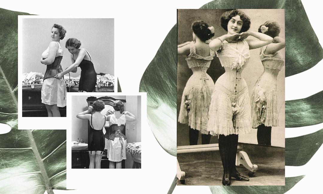 женский корсет викторианской эпохи