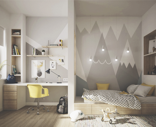 Безопасность, функциональность и яркое оформление -  главные составляющие комфорта детской спальни.