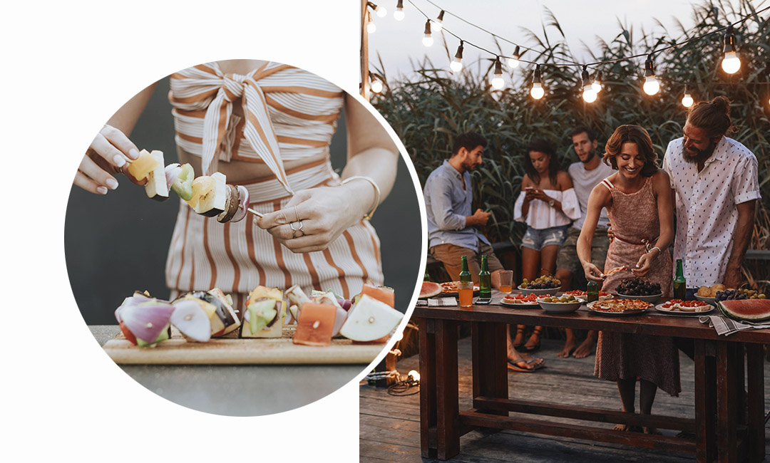 Как устроить летнюю вечеринку на природе? Обязательно предусмотри освещение, если вечеринка затянется до допоздна.