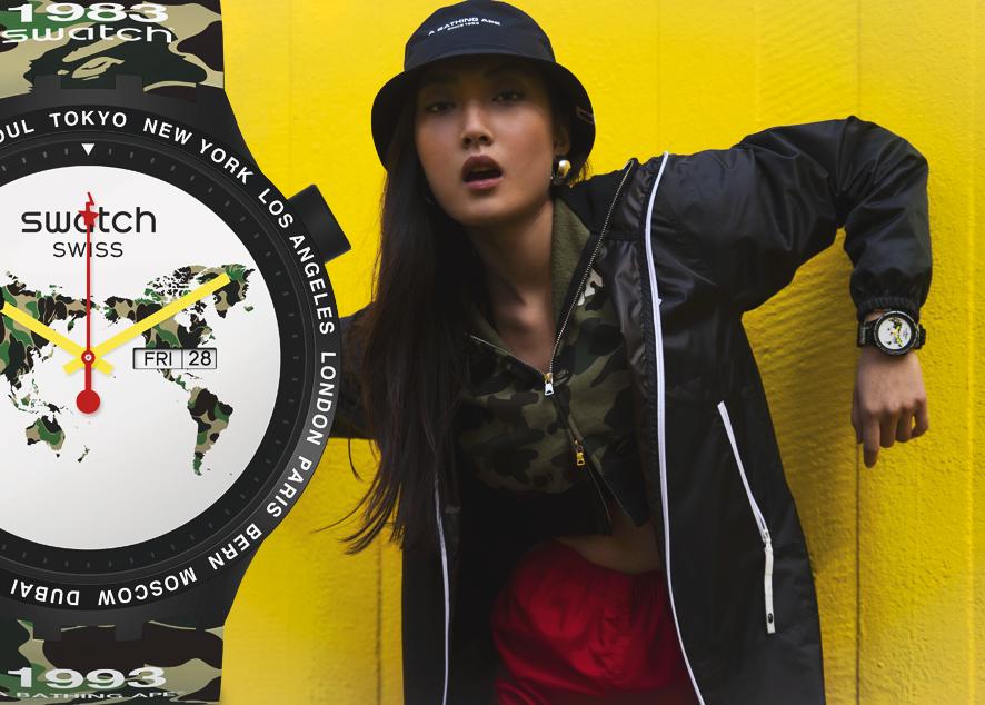 Швейцарский часовой бренд и японская марка уличной одежды объединились, чтобы создать часы для ярких личностей по всей планете.